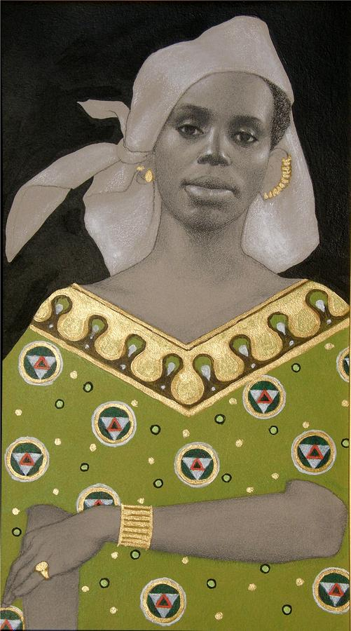 Malian Woman After Klimt Painting  - Malian Woman After Klimt Fine Art Print