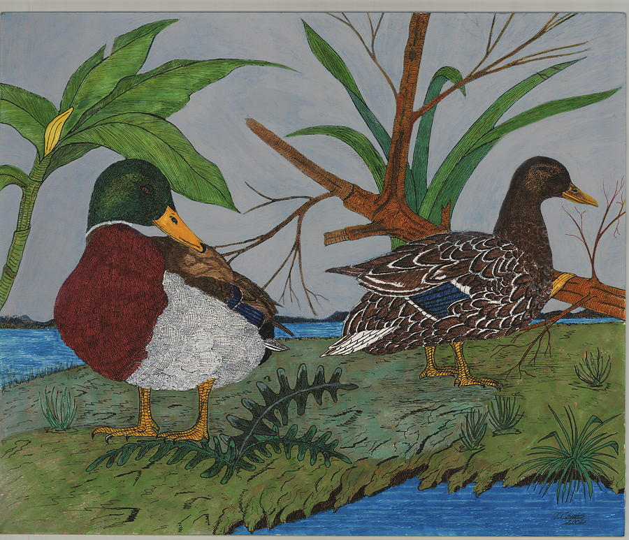 Mallards Painting - Mallards by Tommy Combs