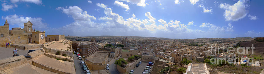 Malta Panoramic View Of Valletta  Photograph