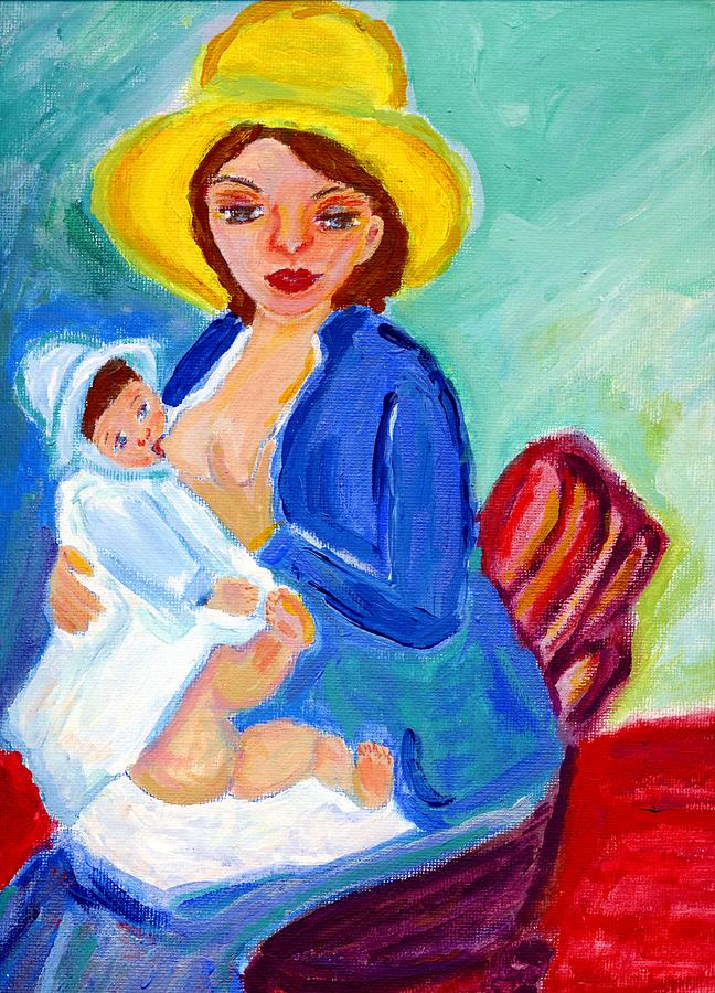 Mamma And Babe Painting  - Mamma And Babe Fine Art Print