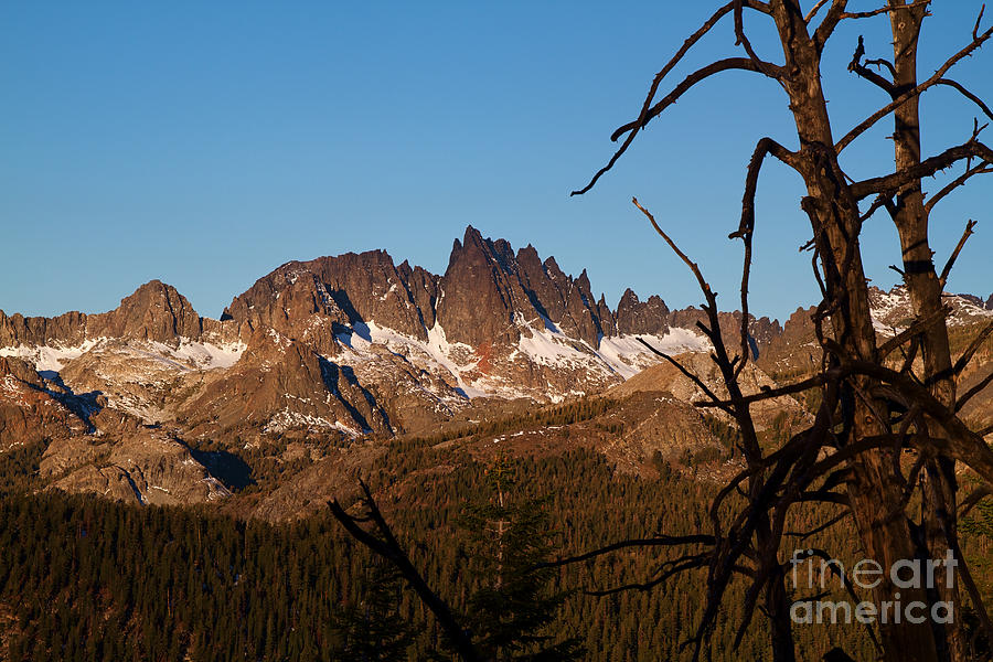 Mammoth Mountain California And Devils Postpile National Monument With Spires Photograph  - Mammoth Mountain California And Devils Postpile National Monument With Spires Fine Art Print