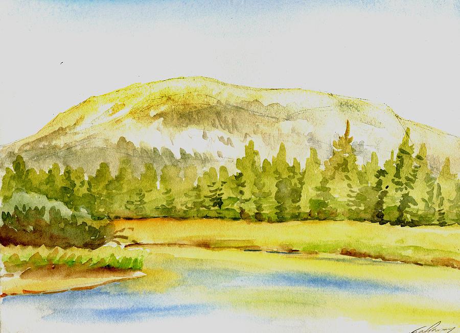 Mammoth Drawing - Mammoth Peak by Logan Parsons