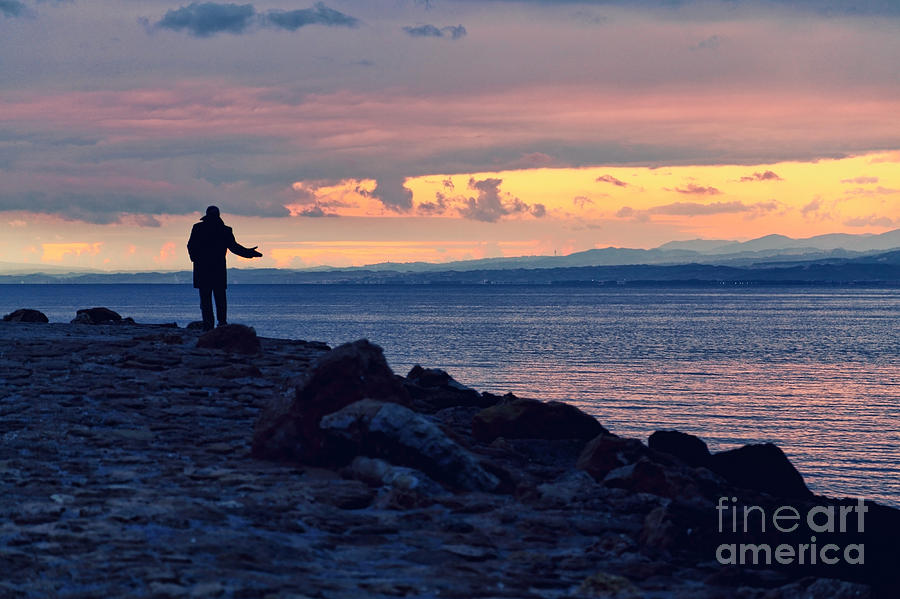 Man And Sea Photograph  - Man And Sea Fine Art Print
