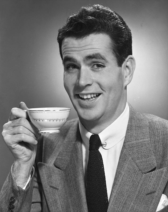 Man Drinking Coffee Photograph