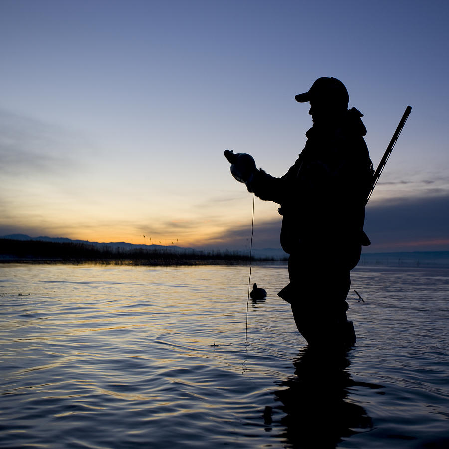 Man Duck Hunting Photograph