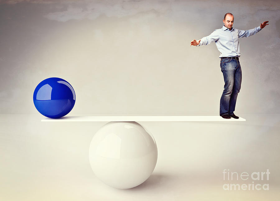 Man In Balance Photograph  - Man In Balance Fine Art Print