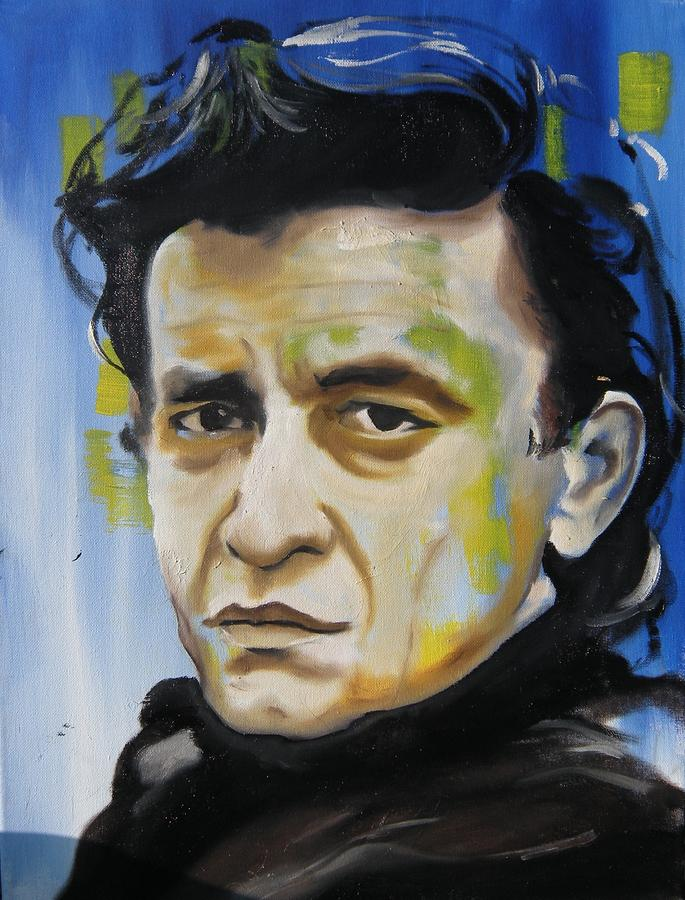 Man In Black Painting