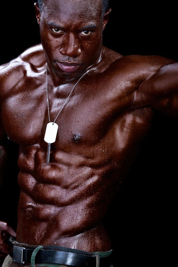 Man Made Of Dark Chocolate Photograph