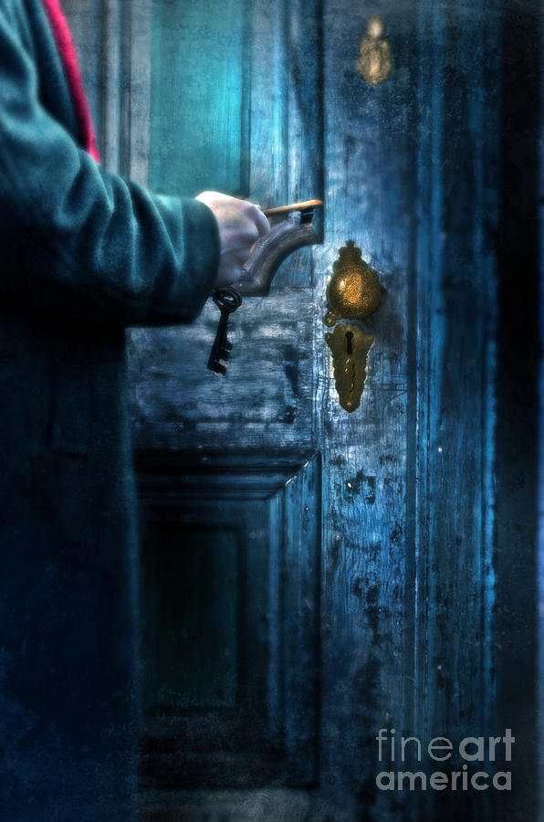 Man With Keys At Door Photograph  - Man With Keys At Door Fine Art Print