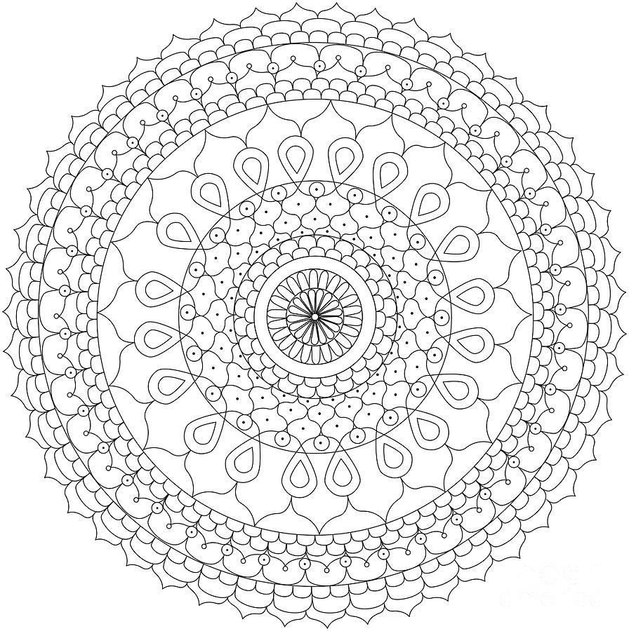 Mandalas, Mandala Coloring And