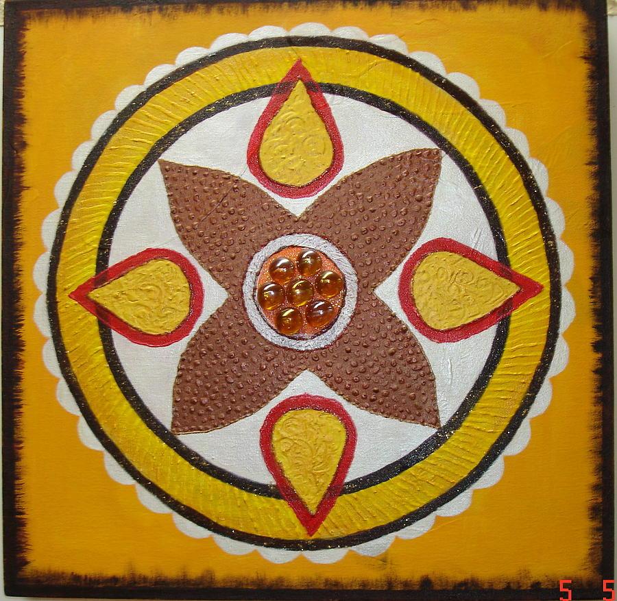 Mandala Com Pedra Painting