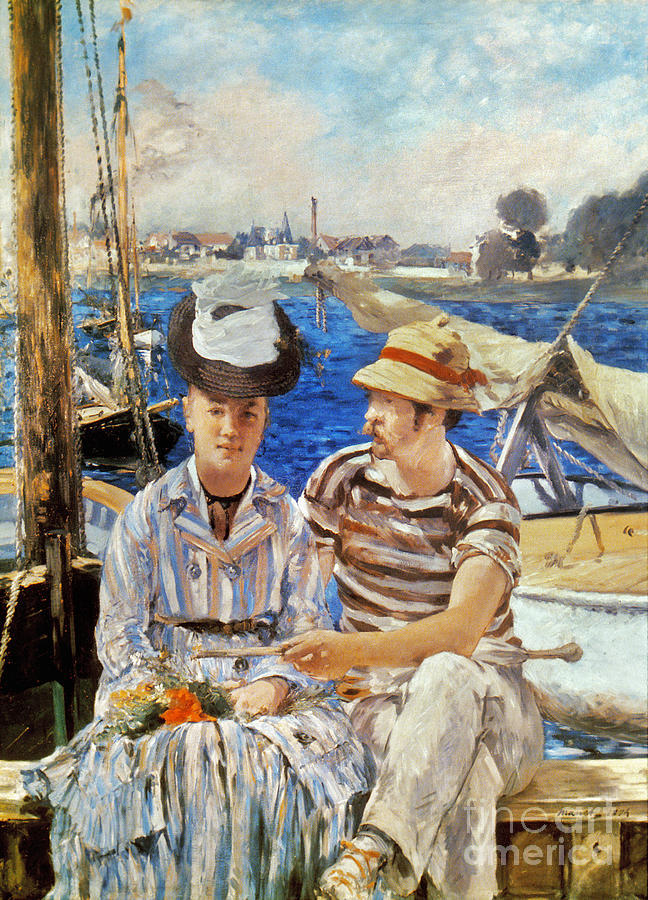 Manet: Boaters, 1874 Photograph