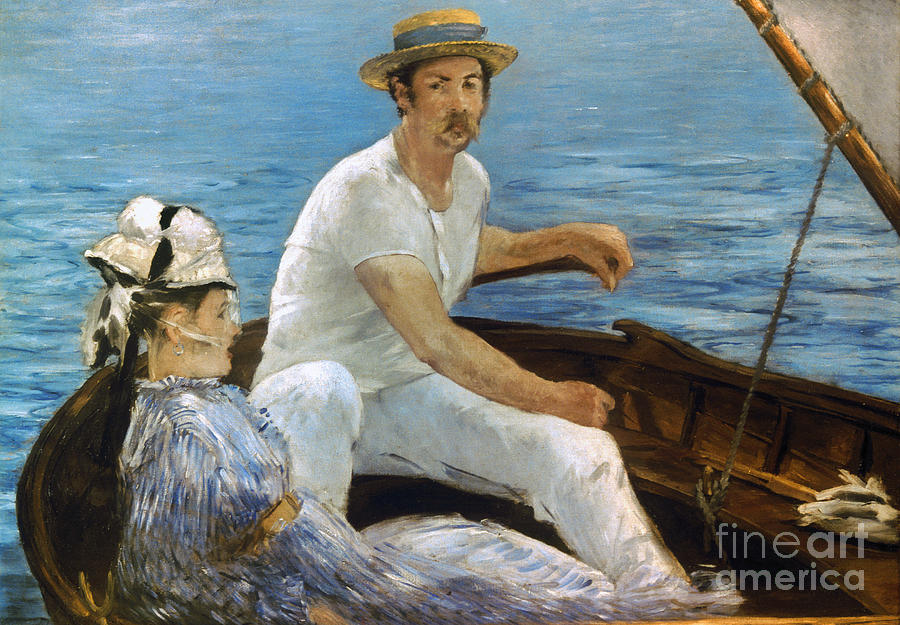 Manet: On A Boat, 1874 Photograph