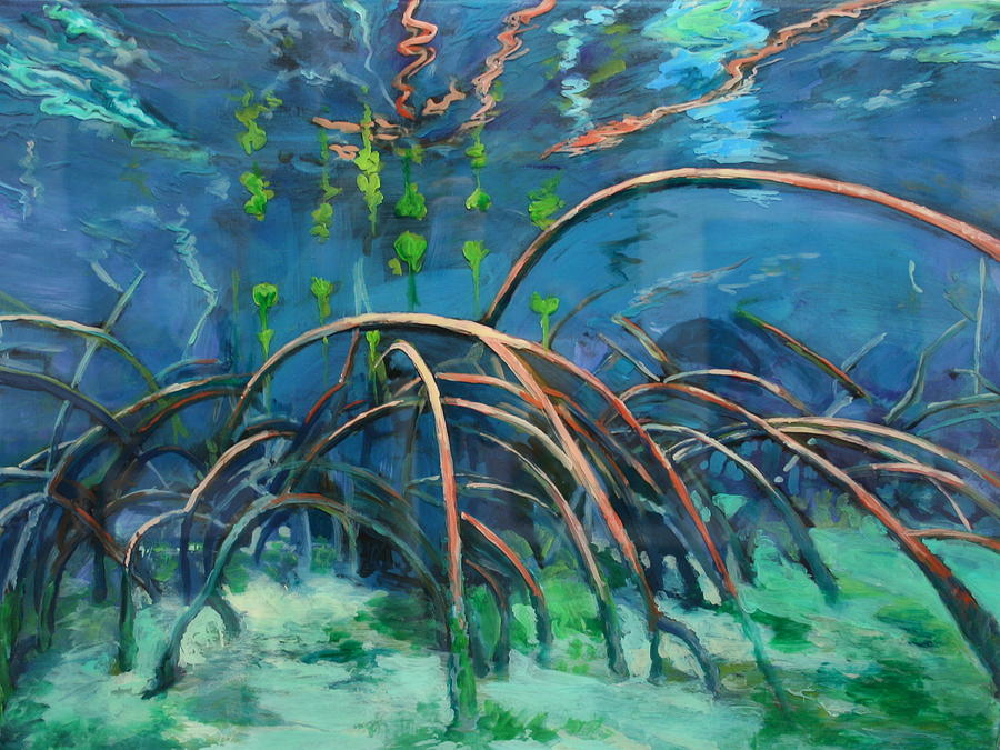 Mangrove Painting Painting - Mangrove Roots  by Scout Cuomo