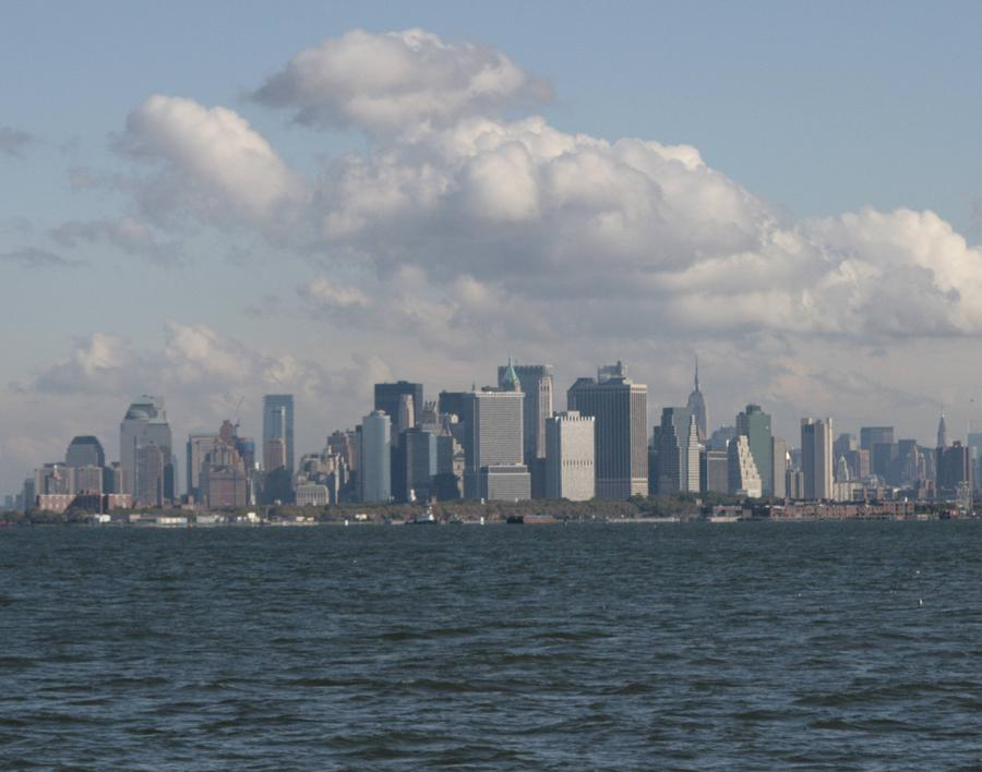 Manhattan And Governors Island Photograph
