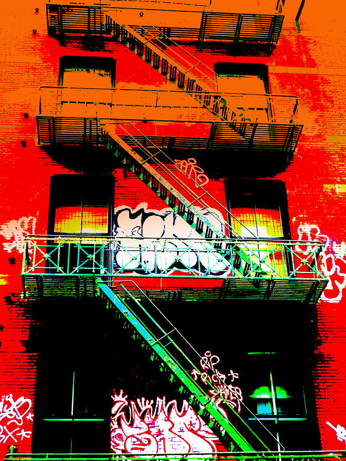 Manhattan Fire Escape Photograph  - Manhattan Fire Escape Fine Art Print
