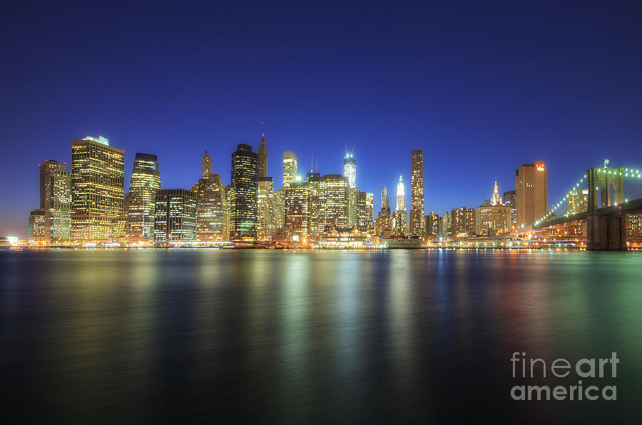 Manhattan Nite Lites Nyc Photograph  - Manhattan Nite Lites Nyc Fine Art Print