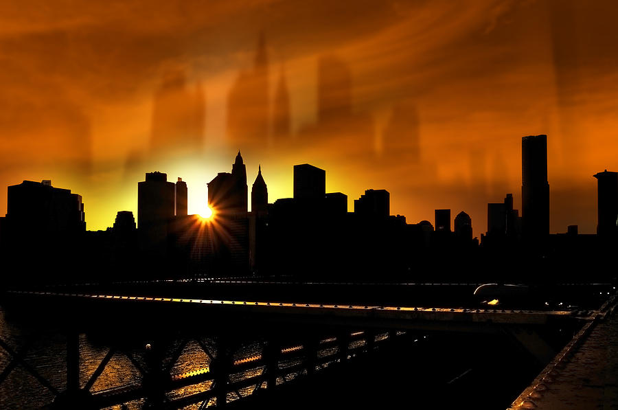 Manhattan Silhouette Photograph