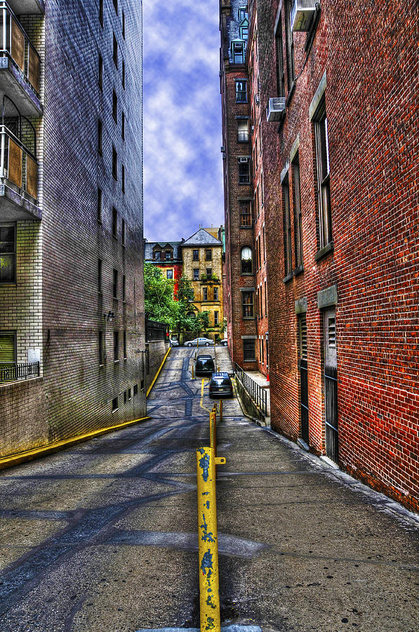 Manhattan Theater District Alley Photograph  - Manhattan Theater District Alley Fine Art Print