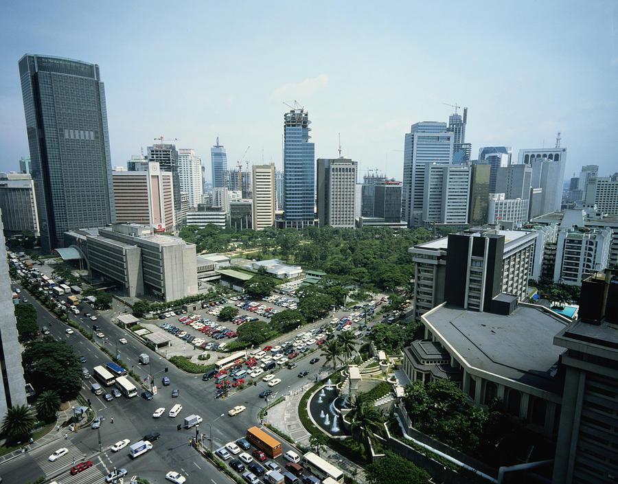 Horizontal Photograph - Manila Skyline by John Wang