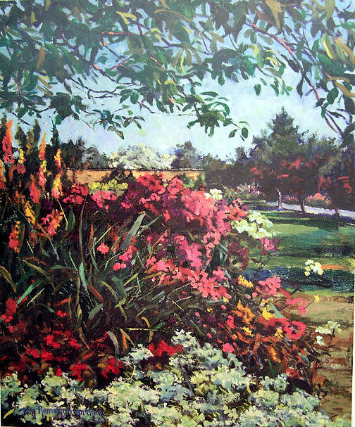 Manor Garden Painting