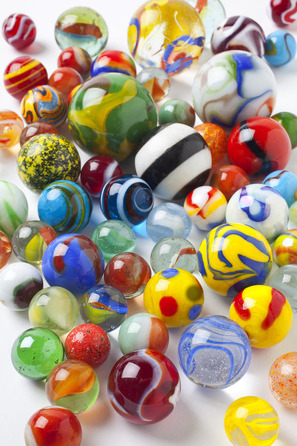 Many Beautiful Marbles Photograph