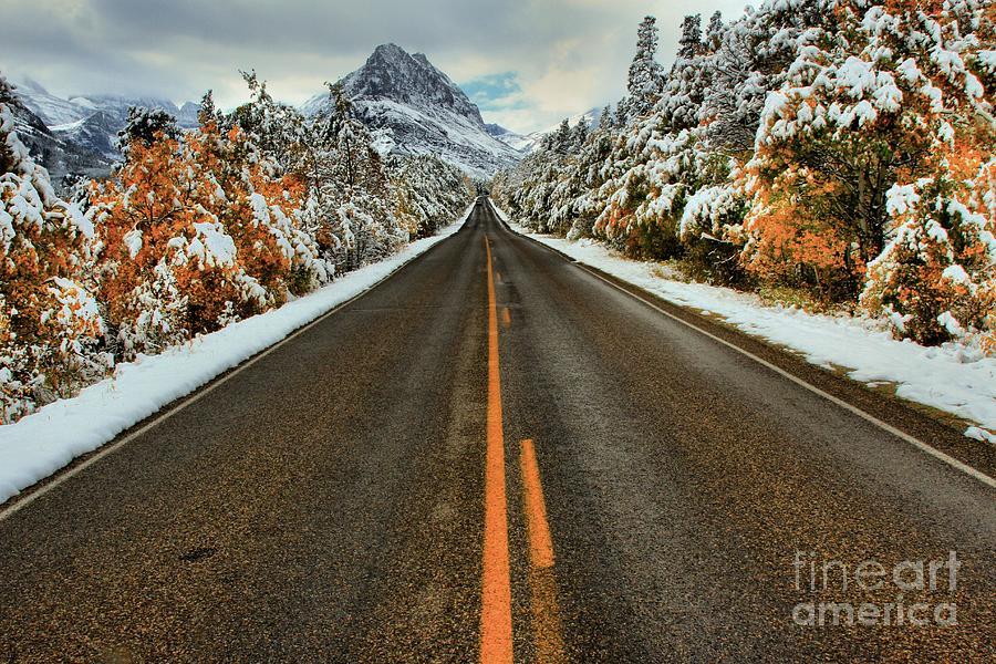 Many Glacier Road Photograph