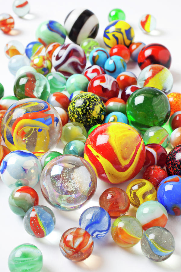 Many Marbles  Photograph  - Many Marbles  Fine Art Print