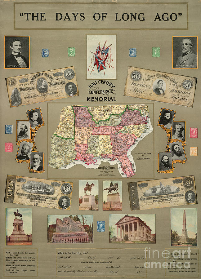Map: Confederate States Photograph
