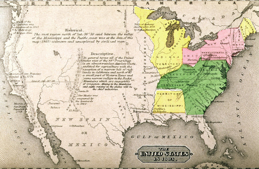 Map Of The United States Painting