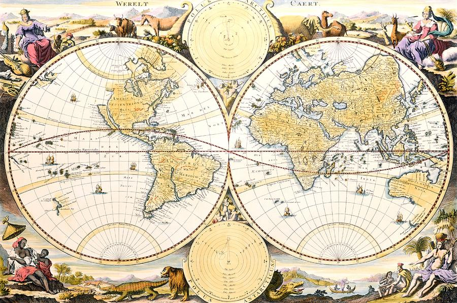 Map Of The World Painting