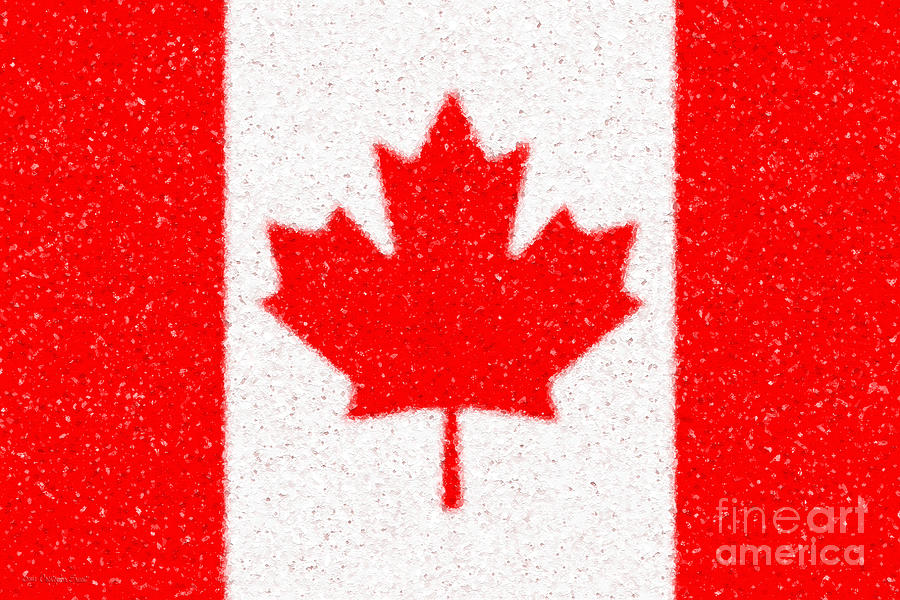 Maple Leaf Abstract Digital Art  - Maple Leaf Abstract Fine Art Print