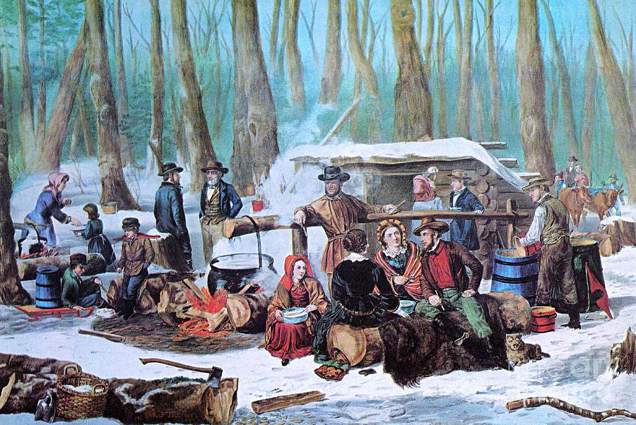 Maple Sugaring, 1872 Photograph