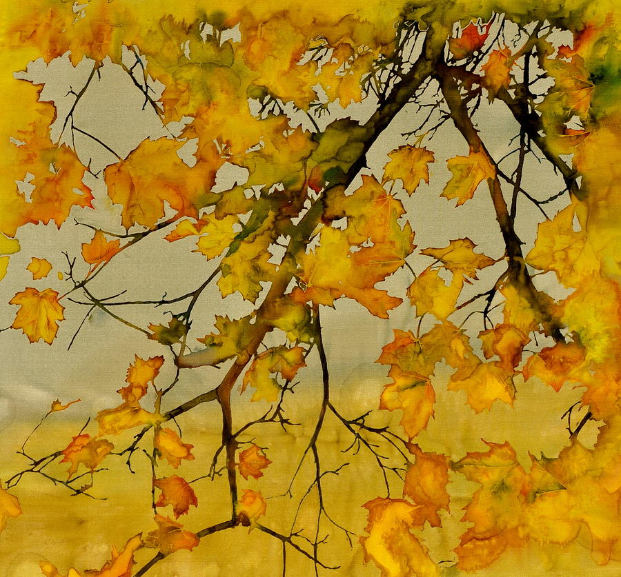 Maples In Autumn Tapestry - Textile
