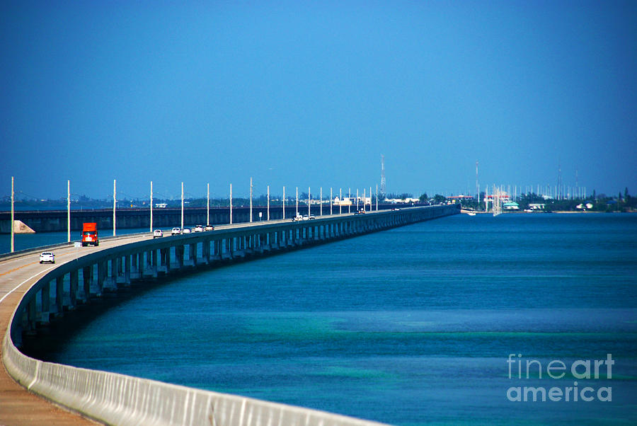 Marathon And The 7mile Bridge In The Florida Keys Photograph