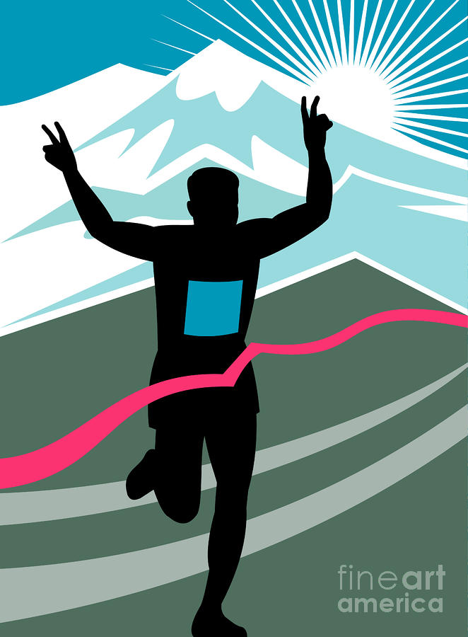 Marathon Race Victory Digital Art