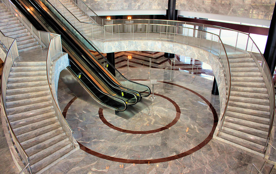 Staircase Photograph - Marble Staircases by Kristin Elmquist