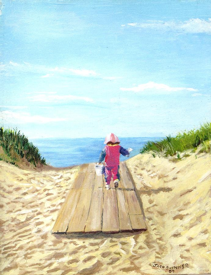 March To The Beach Painting