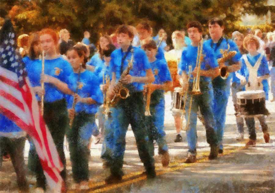Marching Band - Junior Marching Band  Photograph  - Marching Band - Junior Marching Band  Fine Art Print