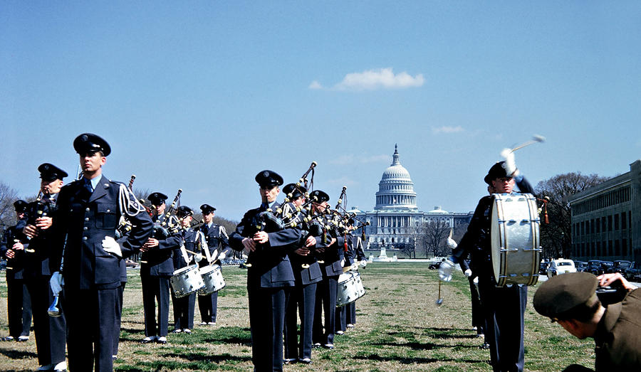 Marching Band At Capitol Photograph