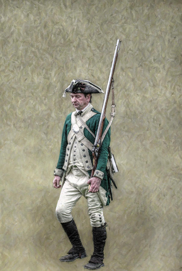 Marching Loyalist Soldier Revolutionary War Digital Art  - Marching Loyalist Soldier Revolutionary War Fine Art Print