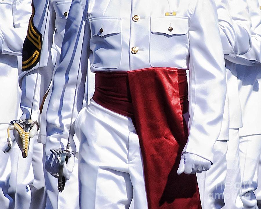 Marching Mardi Gras Marines Photograph