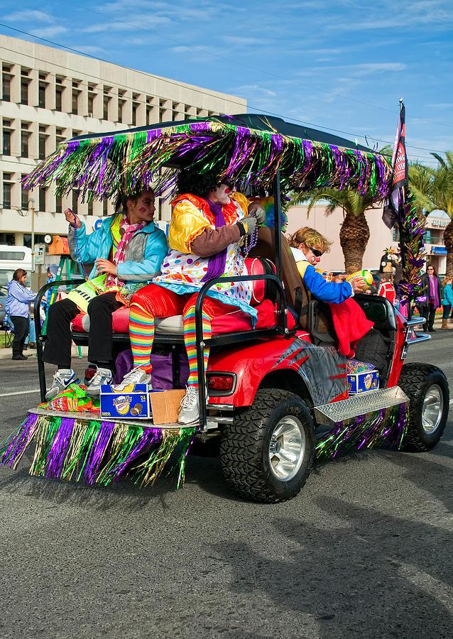 Mardi Gras Clowning Photograph