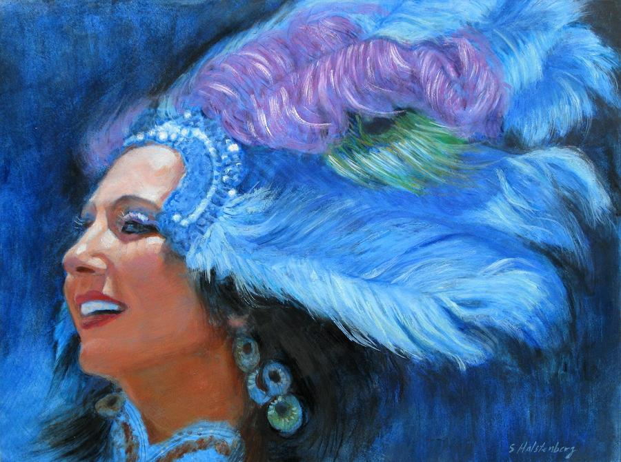Mardi Gras Girl Painting
