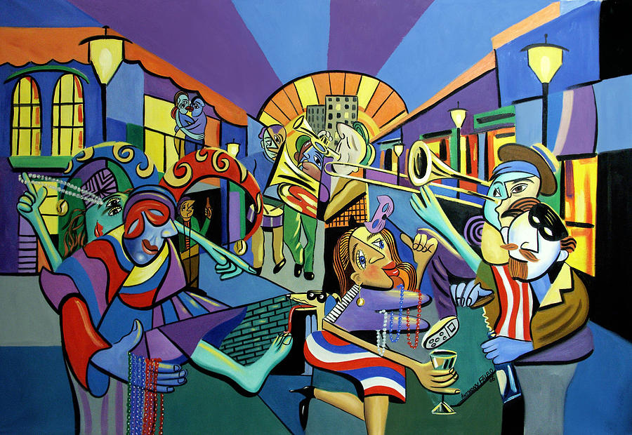 Mardi Gras Lets Get The Party Started Painting  - Mardi Gras Lets Get The Party Started Fine Art Print