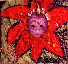 Mardi Gras Mask Girl II Mixed Media