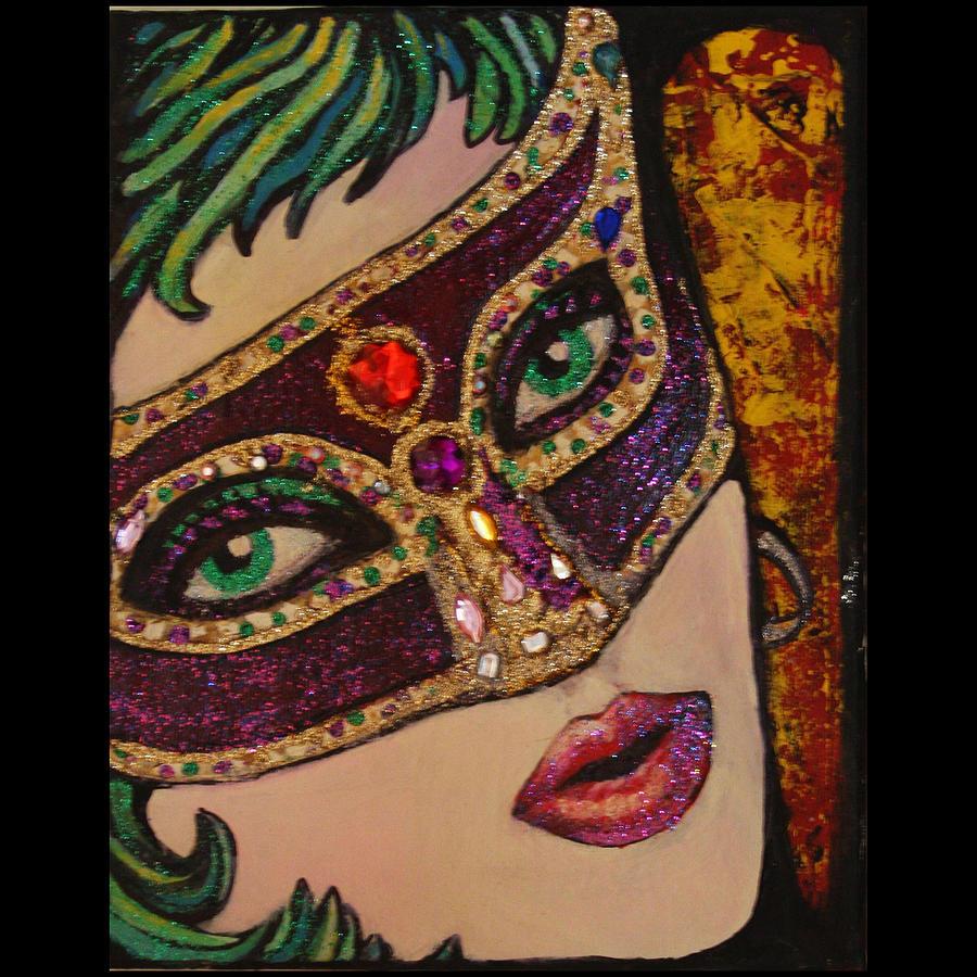 Mardi Gras Mask Painting by Martha Bennett