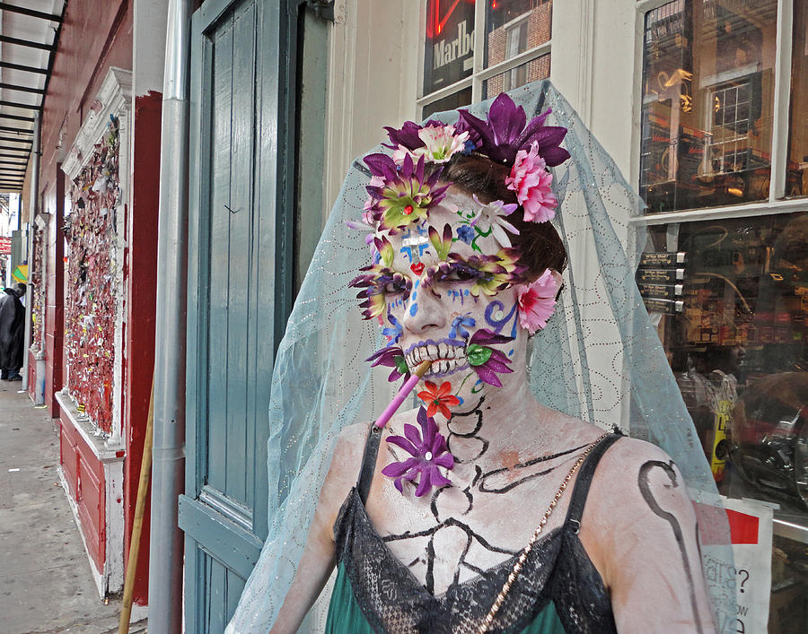 Mardi Gras Photograph - Mardi Gras Voodoo In New Orleans by Louis Maistros