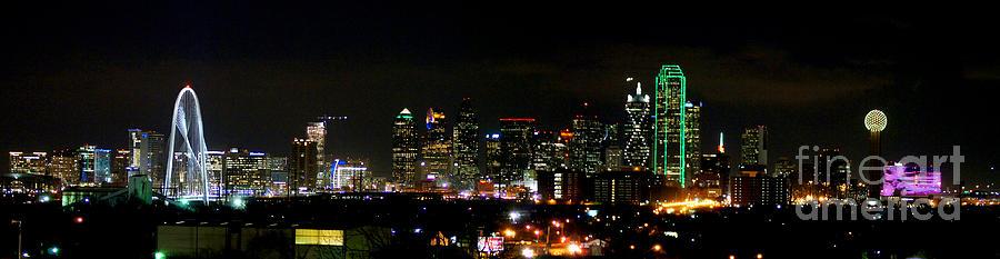 Margaret Hunt Hill Bridge And Dallas Skyline Photograph