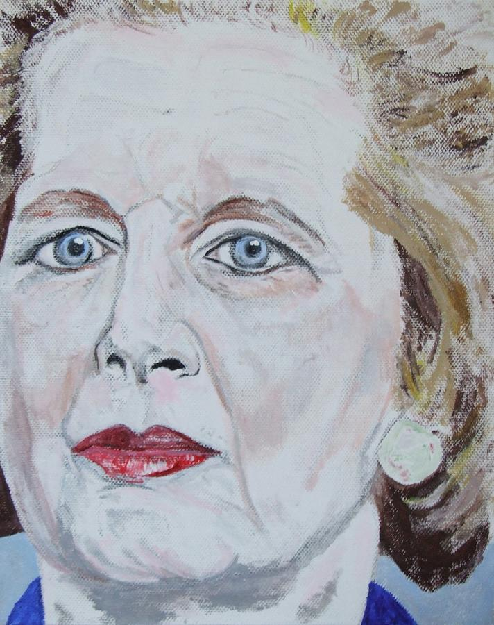 Margaret Thatcher Painting